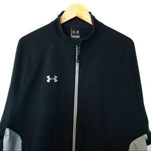 Under Armour Men Size L Zip Up Windbreaker Jacket